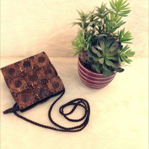 Handbags - Wooden Tile Crossbody Bag